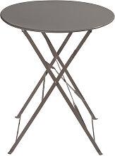 Klappgartentisch aus Metall, D 58cm, taupe