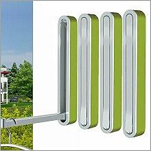 Klapphaken-Garderobe Designer TESSIN H 160 mm - 4 Stück - grün - für Balkon, Terasse und Garderobe - platzsparend, modern, stabil, Klapp-Haken aus wetterfestem Chrom und hochwertigem Kunststoff.