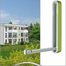 Klapphaken Garderobe Designer TESSIN - H 160 mm grün - für Balkon, Terasse und Garderobe - platzsparend, stabil, Klapp-Haken aus wetterfestem Chrom und hochwertigem Kunststoff. Garderoben-Haken.