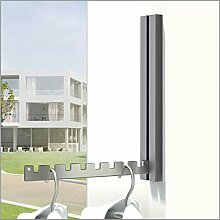 Klapphaken Luxor dunkelgrau für Balkon, Terasse und Garderobe - platzsparend, modern, stabil, Klapp-Haken aus Edelstahl, Gehäuse Aluminium pulverbeschichtet. Balkon-Klapp-Haken.