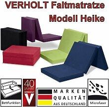 Klappmatratze Faltmatratze Verholt HEIKE rot - MADE IN GERMANY - als Gästebett / Gästematratze / Klappbett einsetzbar