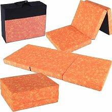 Klappmatratze Star mit Tragetasche, 190x80x10cm (orange)