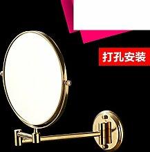 Klappspiegel Badezimmerwand/Doppelseitiger Spiegel/Badspiegel Teleskop Zoom-D