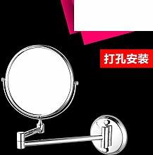 Klappspiegel Badezimmerwand/Doppelseitiger Spiegel/Badspiegel Teleskop Zoom-A
