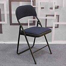 Klappstuhl Computer Konferenz Sitz Rücken Stuhl Stühle Büro Schulung Home Computer Hocker Stühle ( Farbe : Blau )
