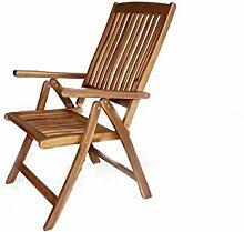 Klappstuhl Gartensessel Garten Stuhl Sessel Eukalyptus FSC Natur