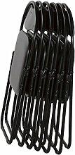 Klappstuhl von MACO - Faltstuhl Gästestuhl Stuhl Metall in schwarz PVC in schwarz 6er Se