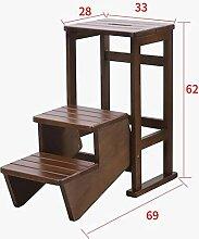 Klapptritt, 3-Stufen-Hocker aus Holz tragbare