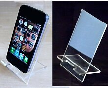 klar Acryl Desktop Handy Stand Ten x Handyständer