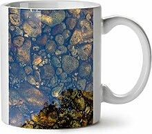 Klar Wasser Foto Natur Klein Kiesel WeißTee KaffeKeramik Becher 11 | Wellcoda