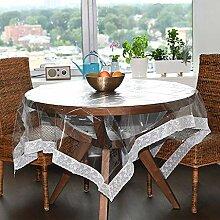 Klare Kunststoff Tischdecke,wasserdicht PVC