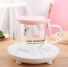 Klarglas Freizeitbecher Große Tasse Glas Tasse