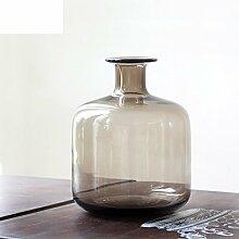Klarglas Vase/ kreative Wohnzimmer Dekoration-A