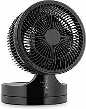 Klarstein • Touchstream • Ventilator • Tischventilator • Mini Ventilator • mit Fernbedienung • leise • platzsparend • zweistufig neigbares Lüftergehäuse • 3 Geschwindigkeiten • Oszillation • große Reichweite • Timer-Funktion • Touch-Panel • schwarz