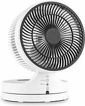 Klarstein • Touchstream • Ventilator • Tischventilator • Mini Ventilator • mit Fernbedienung • leise • platzsparend • zweistufig neigbares Lüftergehäuse • 3 Geschwindigkeiten • Oszillation • große Reichweite • Timer-Funktion • Touch-Panel • weiß