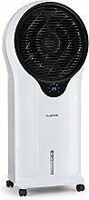 Klarstein • Whirlwind • Luftkühler mit Wasserkühlung • Lufterfrischer • Ventilator • 3 Leistungsstufen • 3 Modi• Fernbedienung • Luftbefeuchtungsfunktion • energiesparend • 110 Watt • Timer • 5,5 Liter Wassertank • Wasserstandsanzeige • weiß