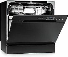 Klarstein Amazonia 8 • Mini-Geschirrspüler • Geschirrspülmaschine • Geschirrspüler • 55 cm breit • für 8 Maßgedecke • 2 Besteckablagen • 6 Programme • 3-Tasten-Bedienfeld • Aquastop • schwarz