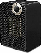 Klarstein Cozy Cube • Keramikheizgerät • Elektroheizung • E-Heizung • Leistung: 900 oder 1800 Watt • LED-Touchdisplay • diverse Heizmodi • Abschalttimer • spritzwassergeschützt IPX1 • schwarz