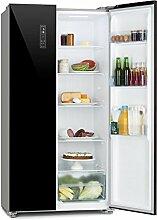 Klarstein Grand Host L • Kühl-Gefrierkombination • Doppeltür-Kühlschrank • Side-by-Side • Display Control • Glastüren • Total No Frost • Kühlschrank: 291 Liter • Gefrierschrank: 138 Liter • schwarz