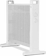 Klarstein HeatPalMica 15 • Wärmewellenheizung • Elektroheizung • Standheizung • 750 W oder 1500 W • ohne Gebläse • leiser Betrieb • stufenlose Temperaturregler • IP24: spritzwassergeschützt • weiß