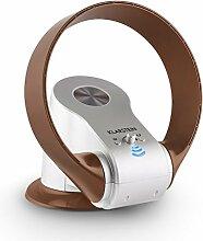 Klarstein myStream Tischventilator Standventilator (rotorlos, leise, Fernbedienung, Timer, Wandhalterung, schwenkbar, neigbar) silber-braun
