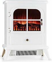 Klarstein St. Moritz • Elektrischer Kamin • Elektrokamin • Heizlüfter • Heizung • getrennt vom Heizlüfter betreibbar • 1850 W • regelbarer Thermostat • ohne Feuer oder Rauch • Dekoholz • Flammenillusion • regelbare Leuchtstärke • rauchfrei • weiß