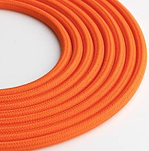 Klartext LUMIÈRE Textilkabel rund 3x0,75mm orange