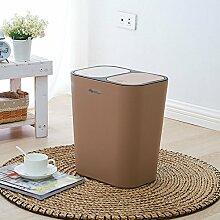 Klassifizierung Mülleimer, drücken Sie die Schalter zwei Abdeckungen Mülleimer Kunststoff Mülleimer Küche Büro Wohnzimmer Mülleimer 29 * 21 * 33cm 12L ( Farbe : #2 )