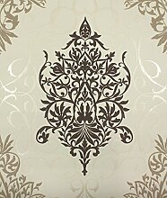 Klassik Barock Tapete Rasch 796148 Vliestapete ORNAMENT beige braun