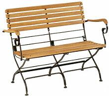 Klassisch elegante Gartenbank aus Eisen und