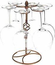 Klassisch elegante Metall Tischplatte 6Wein Glas