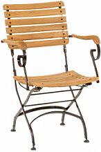 Klassisch eleganter Gartenstuhl aus Eisen und