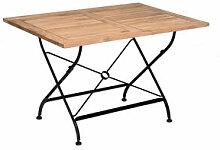 Klassisch rechteckiger Gartentisch aus Eisen und