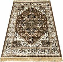 Klassisch Teppich Heriz Teppich Glaenzend-Look Perser Dessin Teppich RUBINE 304-MARRONE 140X190