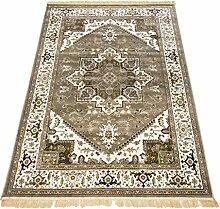 Klassisch Teppich Heriz Teppich Kunst Seide Rubine 304-grigio Cm.200x290 grau