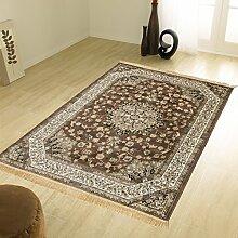 Klassisch Teppich Keshan Top Preis Guenstig Teppich RUBINE 317-MARRONE 140X190