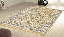 Klassisch Teppich Orient Sarouk Teppich Glaenzend-Look RUBINE 492-ORO 160X230