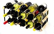 Klassische 15 Flasche Kiefernholz und verzinktem