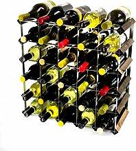 Klassische 42 Flasche Eiche dunkel gebeiztem Holz