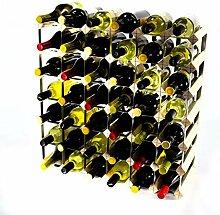 Klassische 42 Flasche Kiefernholz und verzinktem