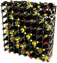 Klassische 72 Flasche Eiche dunkel gebeiztem Holz