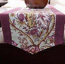 Klassische amerikanische Druckerei West Tabelle Tischl?ufer/Couchtisch TV Schrank Tischl?ufer/Bett-Tücher/Bett-banner-B 35x220cm(14x87inch)