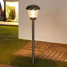 Klassische Außenleuchte Edelstahl inkl. LED auf