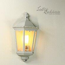 Klassische Aussenleuchte Laterne 2/1/383 Hoflampe Hofleuchte weiß
