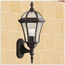 Klassische Außenwandlampe in antik braun E27 max.