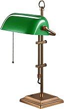 Klassische Bankerlampe Grün Glass