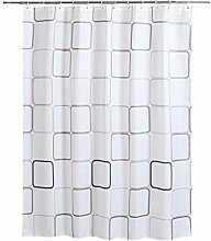 Klassische Block Shower Curtains aus Stoff lang