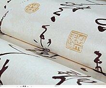 klassische chinesische Tapete Kalligraphie Kalligraphie Tapete Schlafzimmer Wohnzimmer Studie Wallpaper [TV Hintergrundbild]-A