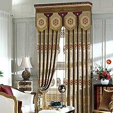 Klassische europäische Stickerei Vorhänge , Gardinen Fenster,2*50W96L