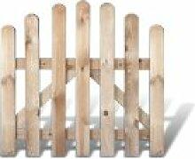 Klassische Friesenzaun Gartenpforte günstig Maß 100 x 95 auf 80 cm (Breite x Höhe) aus Kiefer / Fichte Holz, druckimprägniert + genagel